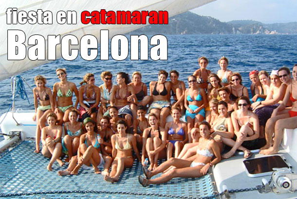 Fiesta en catamarán Barcelona