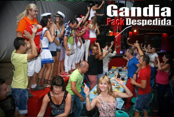 Pack despedida en Gandia